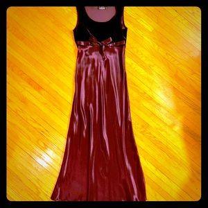 Beautiful vintage plum floor length dress!